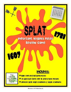 SPLAT! - Important Virginia Dates/Time Periods to Know