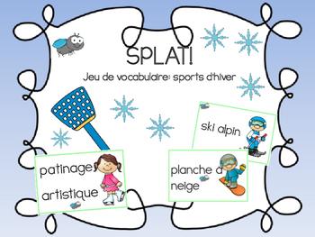 SPLAT! - Jeu de vocabulaire pour les sports d'hiver!