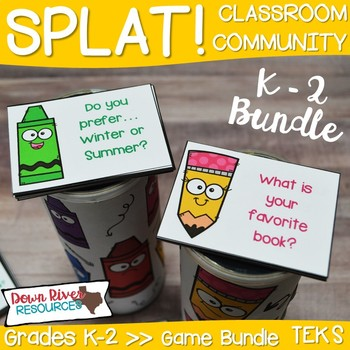 SPLAT! K-2 Classroom Community Games for Getting to Know You & Team Building