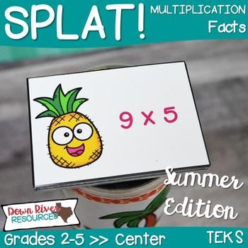 SPLAT! Multiplication Facts Interactive Math Center- Summer Edition {TEKS}