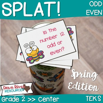 SPLAT! Odd or Even Interactive Math Center- Even and Odd- Spring Edition  {TEKS}
