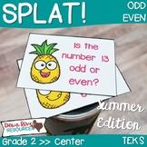 SPLAT! Odd or Even Interactive Math Center- Summer Edition {TEKS}