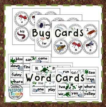 SPLAT! Pre-Primer Dolch Sight Words Game