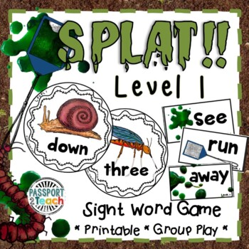 SPLAT! Pre-Primer Dolch Sight Words Game