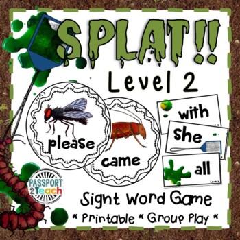 SPLAT! Primer Dolch Sight Words Game FREEBIE!