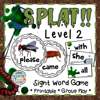 SPLAT! Primer Dolch Sight Words Game FREEBIE!
