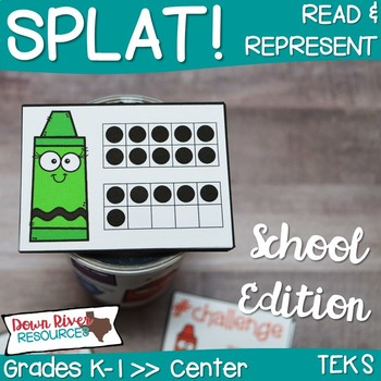 SPLAT! Read and Represent Whole Numbers up to 20 Center- Back to School {TEKS}