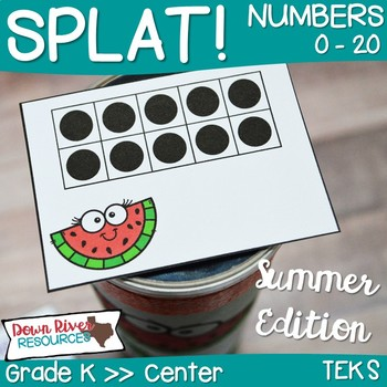 SPLAT! Read and Represent Whole Numbers up to 20- Summer Edition {TEKS}