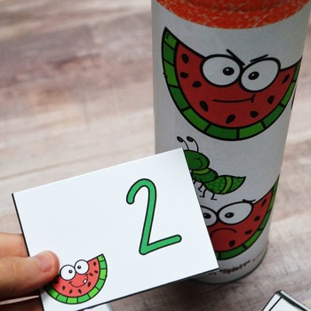 SPLAT! Read and Represent Whole Numbers up to 20 Math Center- Summer {TEKS}