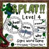 SPLAT! Second Grade Dolch Sight Words Game
