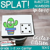 SPLAT! Subitizing Numbers up to 10 Interactive Math Center