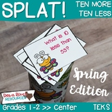 SPLAT! Ten More & Ten Less Interactive Math Center- Spring Edition {TEKS}