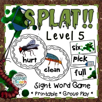 SPLAT! Third Grade Dolch Sight Words Game