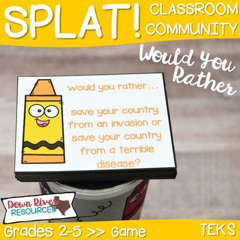 SPLAT! Would You Rather...? Game for Getting to Know You & Team Building