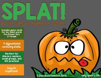 Dolch Sight Word Game {Pumpkins and Halloween Themed}