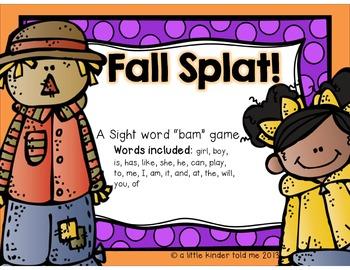 SPLAT! a fall themed bam game