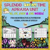 SPLENDID SPRINGTIME APRAXIA UNIT: VC, CV, CVCV & CVC WORDS