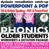 {phonics for older students} {dyslexia worksheets} {middle school intervention}