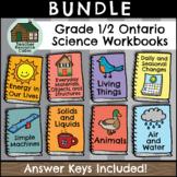 SPLIT GRADE BUNDLE: Grade 1/2 Science Workbooks (Ontario Curriculum)