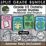 SPLIT GRADE BUNDLE: Grade 1/2 Social Studies Workbooks (Ontario Curriculum)
