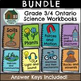 SPLIT GRADE BUNDLE: Grade 3/4 Science Workbooks (Ontario Curriculum)