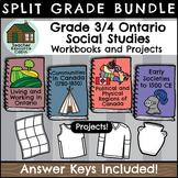 SPLIT GRADE BUNDLE: Grade 3/4 Social Studies Workbooks (Ontario Curriculum)