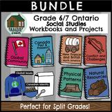 SPLIT GRADE BUNDLE: Grade 6/7 Social Studies Workbooks (Ontario Curriculum)