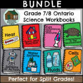 SPLIT GRADE BUNDLE: Grade 7/8 Science Workbooks (Ontario Curriculum)