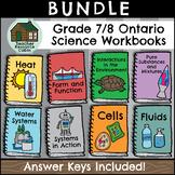 SPLIT GRADE BUNDLE: Grade 7/8 Science Workbooks (Ontario C