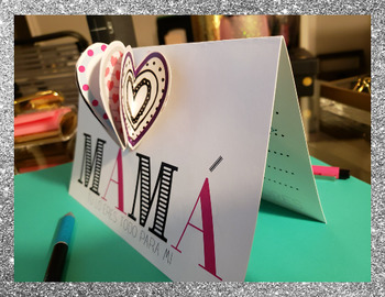 Spanish Mother's Day Card with 3D heart