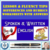 SPOKEN AND WRITTEN ENGLISH LESSON AND RESOURCES