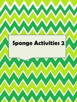 SPONGE ACTIVITIES 2