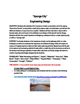 SPONGE CITY - ENGINEERING DESIGN