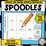 SPOODLES! SPEECH THERAPY ARTICULATION NO PREP worksheets #Jan2019slpmusthave