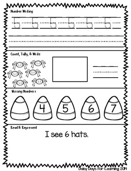 SPOOK-tacular Daily Math Practice for Kindergarten (Common Core Aligned)