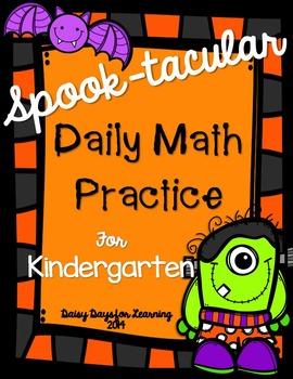 SPOOK-tacular Daily Math Practice for Kindergarten (Common