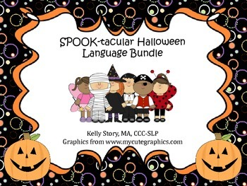 Halloween Language Bundle: WH-Questions and Prepositional