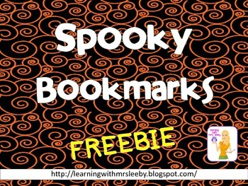 SPOOKY BOOKMARKS - FREE