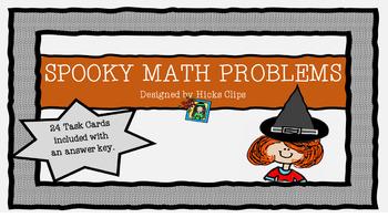 SPOOKY MATH PROBLEMS