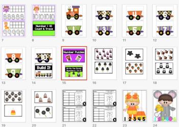 SPOOKY NUMBERS 1-10