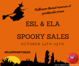SPOOKY SALES (Halloween-themed resources) OCTOBER 24th-25th