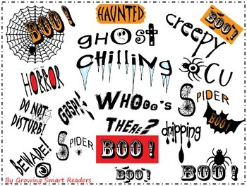 halloween spooky word art