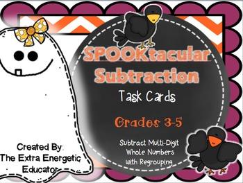 Halloween SPOOKtacular Subtraction FREEBIE