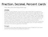 SPOONS Fraction, Decimal, Percent Cards