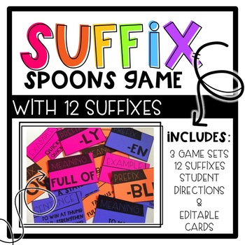 SPOONS Game with Suffixes - Engaging Suffix Game