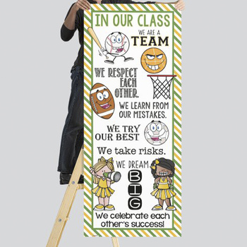 SPORTS ALL STARS - Class Decor: LARGE BANNER, In Our Class / green - yellow