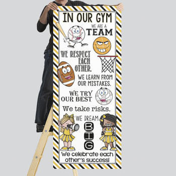 SPORTS ALL STARS - Class Decor: LARGE BANNER, In Our GYM / yellow - black