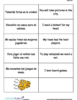 SPORTS AND EQUIPMENT REVIEW (SPANISH)
