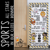 SPORTS ALL STARS - Classroom Decor: LARGE BANNER, In Our Class / yellow - black