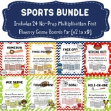 SPORTS BUNDLE:  No-Prep Fact Fluency Games for One-Digit M